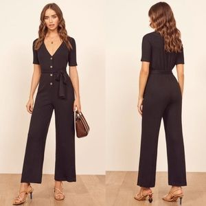 Reformation Camille NWT Sz Small Black Jumpsuit